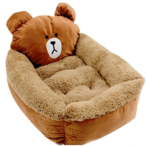 Bear Shape Soft Touch Pet Dog Cat Cuddler Bed Sofa by Pre...