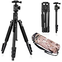 Camera Tripod Zecti 55 inch Aluminum Travel Tripod and Monopod for Dslr Digital Cameras Video GoPro Nikon Canon Sony