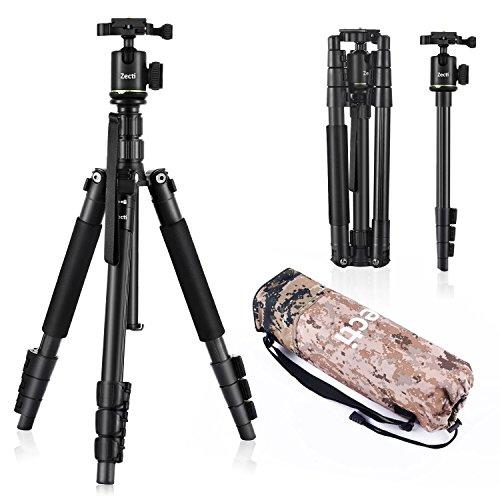 Camera Tripod Zecti 55 inch Aluminum Travel Tripod and Monop