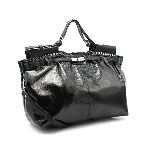 clouté main sac Bella réglable porté bandoulière à à Sac sac la glitter Vimoda Noir main XIwzpq