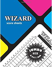 Wizard Score Sheets: Wizard Card Games Score Record - Extra Large Size 8.5x11 inch