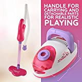 WolVol Pretend Battery Operated Vacuum Cleaner Set