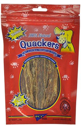 Pet Center Dpc33723 Natural Quakers Duck Breast Dog Treat, 3-Ounce