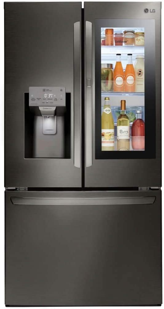 LG LFXS28596D 28 Cu. Ft. Black Stainless InstaView Door-in-Door French Door Refrigerator
