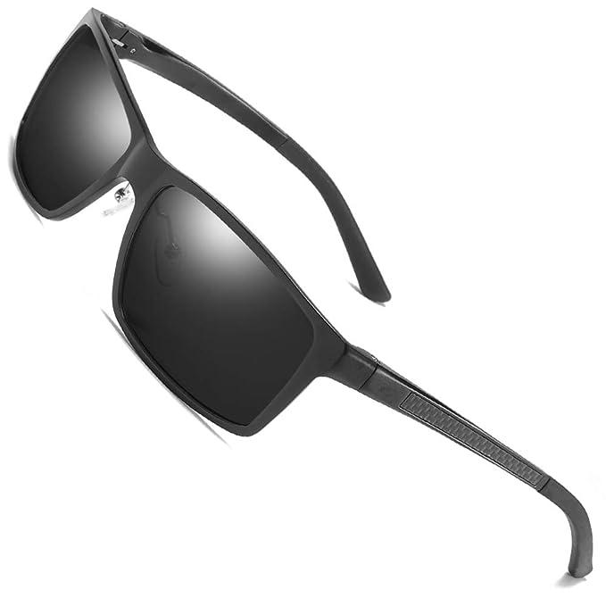 77f3c41dcfa31 Men s Polarized Sports UV400 Metal Fashion Retro Driving Fishing Sunglasses  Black