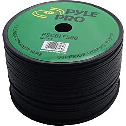 Pyle-Pro PSCBLF500 500 Feet 12 AWG Spool Speaker Cable with Rubber Jacket