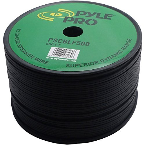 Pyle-Pro PSCBLF500 500-Feet 12 AWG Spool Speaker Cable with Rubber Jacket Sound Around