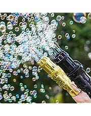 مسدس فقاعات كهربائي صغير جاتلينج للفقاعات الملونة لون (ذهبي)