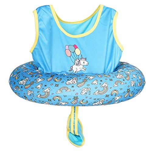 (Megartico Kid's Swim Trainer Vest Inflatable Tube Girls Adjustable Safety Strap Boys Buoyancy Swimwear - Toddler Learn to Swim)