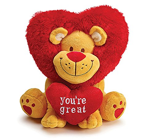 Price comparison product image You're Great Lion with Heart Mane Valentine Plush