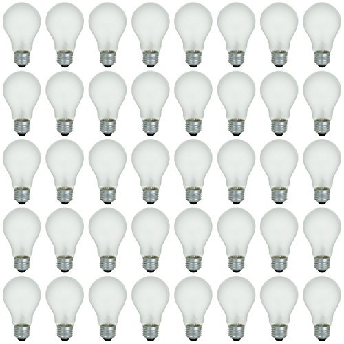(48 Pack of 100 Watt Long Life High Voltage (220 Volt) Incandescent Light Bulb, Warm White, 3200K, Frost Finish, Medium Base NOT for Standard Household Lighting)