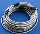 PCCABLES.COM 50FT 15M Firewire Cable Silver 6PIN 6PIN (15 Meter)
