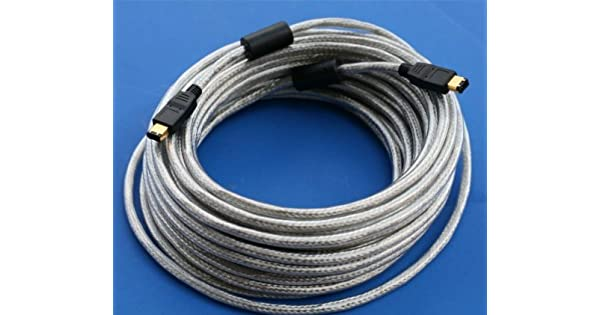 Amazon.com: 33 ft 10 m cable FireWire Plata 6Pin 6Pin ...