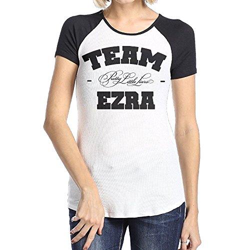Ulongpoq Women's Pretty Little Liars Team Ezra Short Sleeve Raglan Baseball T Shirts Black XX-Large ()