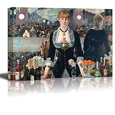Elegant Print, A Bar at The Folies Bergere by Edouard Manet Edouard Manet, Quality Creation