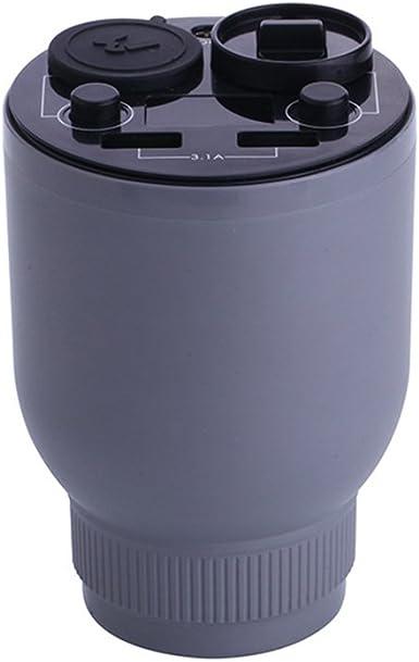yjy esencial difusor de aceite taza de cargador de coche, doble USB puertos adaptador divisor encendedor