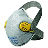 JACKSON SAFETY 32704-ABC R20 P95 Particulate Respirator with Nuisance Level Acid Gas Relief, Comfort Staps and Dual Valves, Universal (Pack of 80)