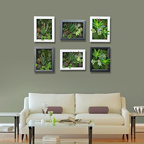 3d New Style Wall Hanger Artificial Flowers Metope Green Grass White Flower Succulent Plants