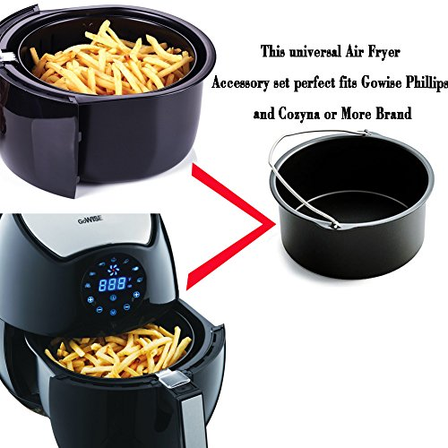 Air Fryer Accessories for Gowise Phillips and Cozyna Etc,Air Fryer Accessories Kit of 5 Fit all 3.7QT-5.3QT-5.8QT by FourWinner (Image #6)