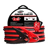 #9: TOPDC Battery Jumper Cables 2 Gauge 20 Feet 450Amp Heavy Duty Booster Cables with Carry Bag (2AWG x 20Ft)