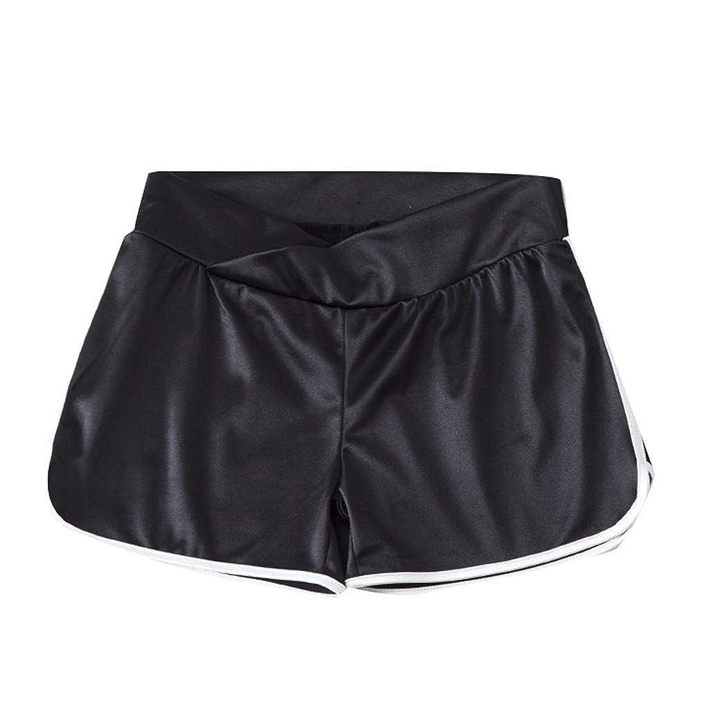 Pantalones Embarazo Ropa de Maternidad Cortos de Verano Mujer Deportivos Shorts de Playa Dama Pantalones Deportivos Mallas de Running Gym Leggins Fitness Running Gym Yoga