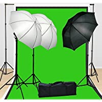 Fancierstudio Lighting Kit 3 Point Lighting Kit With Three 6x9 Muslin Backdrop And Background Stand By Fancierstudio FH4046