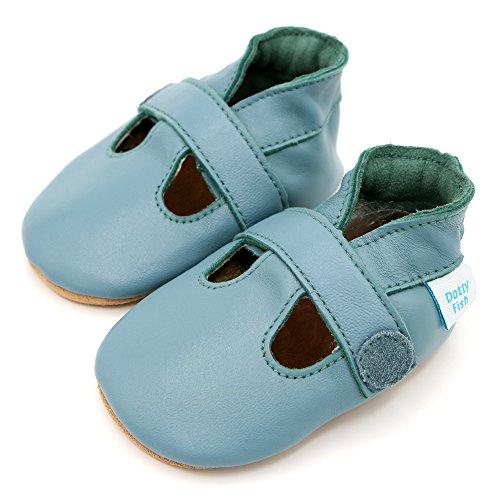 Dotty Fish Zapatos de Cuero Suave Para Bebés 6-12 Meses Omi9QD9N