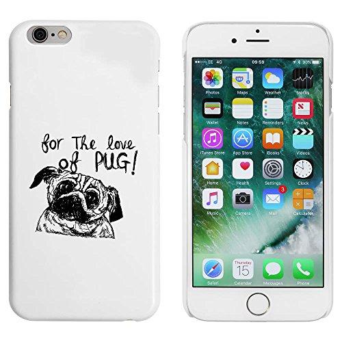 Blanc 'Amour Chien Pug' étui / housse pour iPhone 6 & 6s (MC00047210)