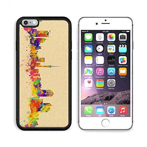 MSD Premium Apple iPhone 6 Plus iPhone 6S Plus Aluminum Backplate Bumper Snap Case Watercolor art print of the Skyline of Auckland New Zealand IMAGE 33241257 by MSD Customized - Glasses Auckland Cheap