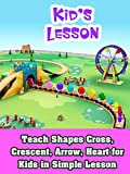 Teach Shapes Cross, Crescent, Arrow, Heart for Kids in Simple Lesson