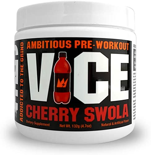 GCode VICE Ambitious Pre-Workout- Clean Energy, Intense Pumps, Power Endurance – 15 Servings Cherry Swola