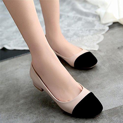 Mee Shoes Damen bequem zweifarbig Niedrig slip on Pumps Pink