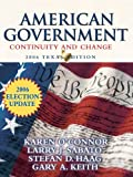 American Government 2006, Larry J. Sabato and Stefan Haag, 0321434609