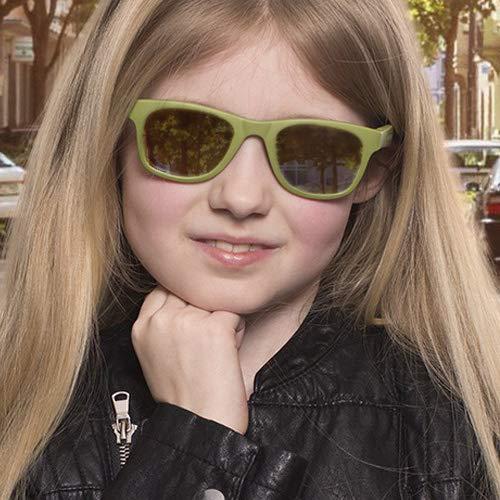 protezione UV 100/% occhiali da sole per bambini Wave Fashion 3+ colore verde militare lenti ottiche di categoria 1 categoria 3 flessibili e infrangibili Koolsun