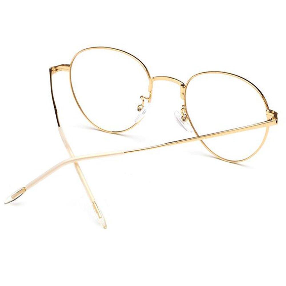 527da4e201baa Hzjundasi Rétro  Vintage Ovale Des lunettes pour Femme et Homme ...