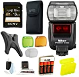 Nikon SB-5000 AF Multifunctional Speedlight Flash (Black) with Sony 16GB Memory Card Accessory Bundle