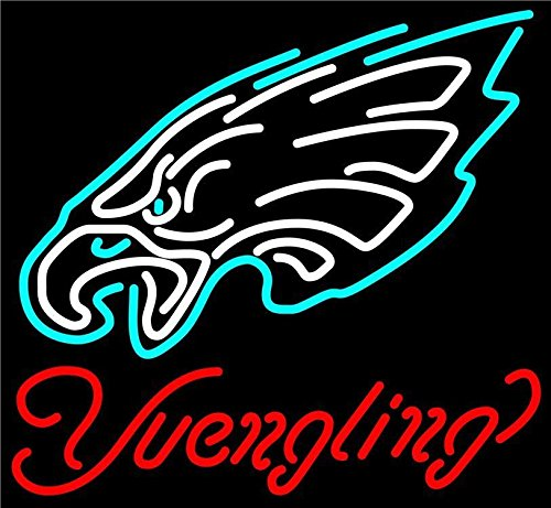 "Desung 20""x16"" Yuengling Philadelphia Sports Team Eagle Neon Sign (VariousSizes) Beer Bar Pub Man Cave Business Glass Lamp Light DC228"