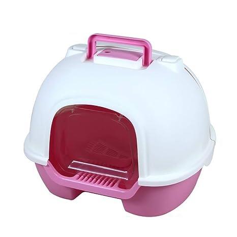 Wcx Caja de Seguridad para Mascotas Inodoro Bandeja de Basura para Gatos Bandeja/Solapa/