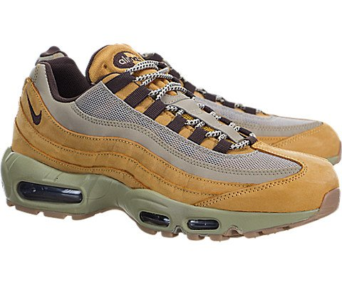 check out df4e0 cd1b0 Galleon - Mens Nike Air Max 95 Premium Wheat Pack Bronze Baroque Brown  Bamboo 538416-700 US 12