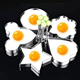 Fried Egg Ring Mold Cooker, Knowless Fried Egg Rings Mold Non Stick for Griddle Pan
