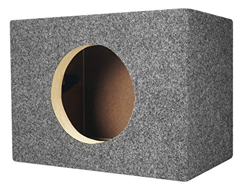 Rockville RS65 Single 6.5″ Sealed MDF Subwoofer Box Sub Enclosure 0.41 cu ft.