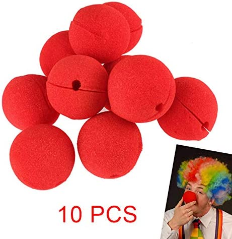 10pcs Red Ball Foam Comic Circus Clown Nose Party Halloween Costume Magic Dress