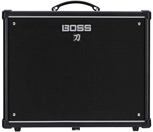 Boss Katana 100-Watt Guitar Combo Amplifier Bundle with Instrument Cable, 24 Picks, and Austin Bazaar Polishing Cloth