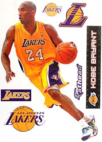 FATHEAD Kobe Bryant Los Angeles Lakers Logo Set Official NBA Vinyl Wall Graphics 17
