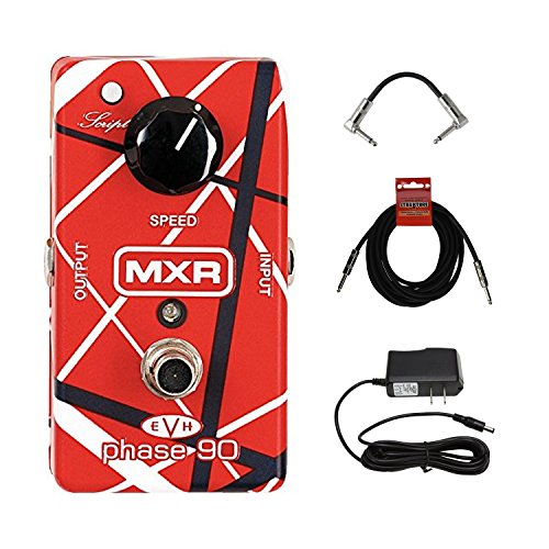 MXR Eddie Van Halen Phase 90 Pedal Guitar Pedal featuring Wide Range of Sounds with AC Power adapter and cables! by MXR
