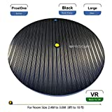 ProxiMat | ProxiOne | Black | Large | VR Virtual Reality Chaperone Safety Mat | 8' to 10' Room Scale | For HTC Vive, Oculus Rift Quest, Playstation PSVR, Pimax 5K 8K, Valve Index Headset