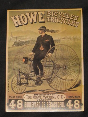 - Howe Bicycles Tricycles Advertising Sign Postcard Bikes