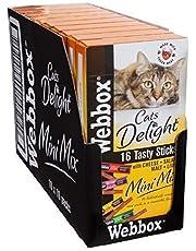 Webbox - 10 bolsas de 16 barritas Cats Delight Mini Mix para gatos