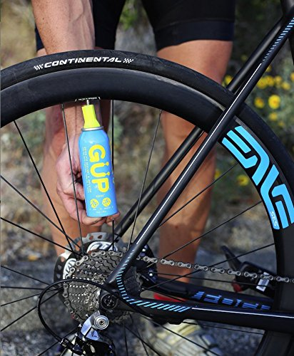 GUP (GÜP Kwiki) Quick Fix Bicycle Tire Sealant and Inflator; for mountain bike, road and cyclocross bike; seal and repair flat or punctured tires; works on tubeless tires, tubes and tubular tires