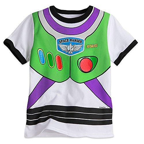 Disney Buzz Lightyear Costume Tee for Boys Size XS (4) White (Buzz Lightyear Tshirt)